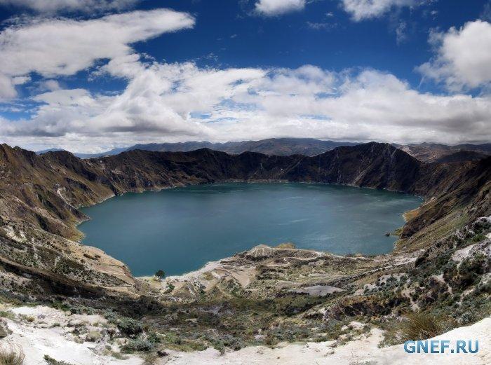 Золотое озеро в Эквадоре